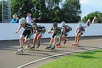 INLINE-SKATEN: HAULERWIJK: Skeelervereniging 'De Draai', 16-06-2012, Elma de Vries (#81), Bianca Roosenboom (#19), Brooke Lochland (#56), Nele Armee (#60), Mariska Huisman (#63), ©foto Martin de Jong