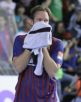 28.04.2012. Barcelona, Spain. Velux EHF Champions League (Quarter Final 2nd Leg). Picture show Jesper Noddesbo in action during match between FC Barcelona Intersport against AG Copenhagen at Palau Blaugrana