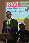 The Joe Magnarelli Group featuring Magnarelli on trumpet, Ralph Bowen on tenor saxophone, Akiko Tsuruga on organ and Dan Monihan on drums, performed at the Hyatt Regency in the New Brunswick Jazz Project's weekly series.