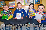 Pupils at Raheen National School are enjoying a range of children's book as  part of an ongoing reading challenge at the school. .L-R Dylan Roche, Connor Hobbs and Evan Lucey.