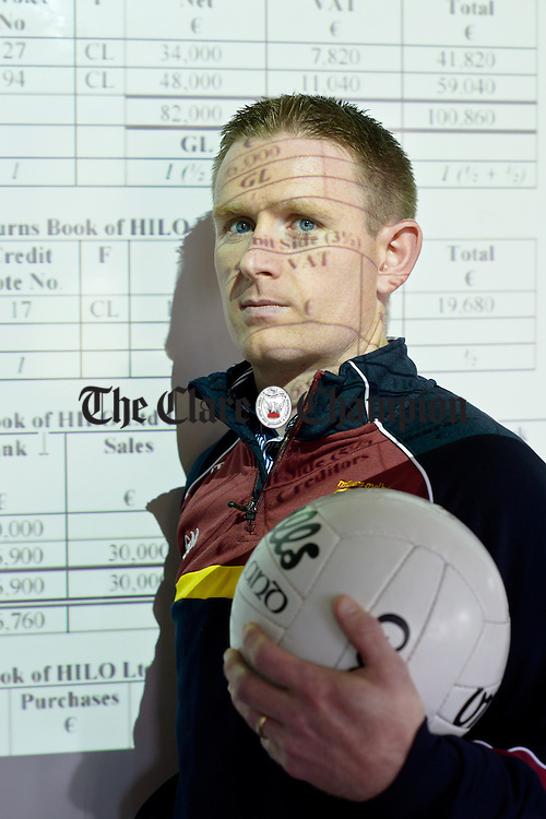 Numbers Game....Miltown's Eoin Curtin in his classroom at St. Flannan's College in Ennis. Photograph by John Kelly.