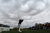 February 2nd 2019, Scottsdale, Arizona, USA; Mathew Wolf tees off on the first hole during the third round of the Waste Management Phoenix Open on February 02, 2019, at TPC Scottsdale in Scottsdale, AZ.