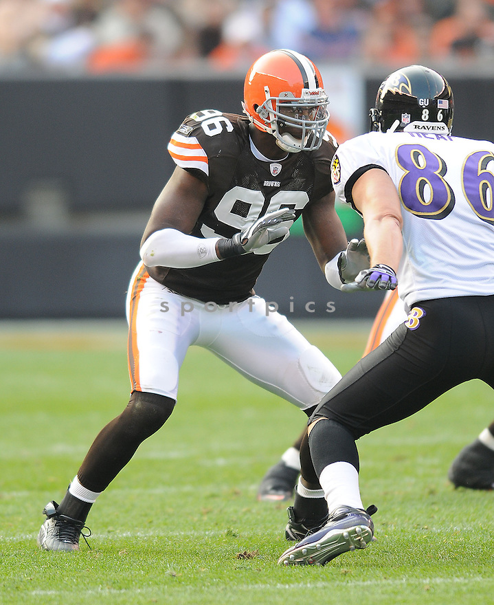 ALEX HALL, of the Cleveland Browns, in action against the Baltimore Ravens during the Browns game in Cleveland, Ohio on November 2, 2008. ..Ravens  win 37-27