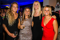 SURFERS PARADISE, Queensland/Australia (Friday, March 1, 2013) Justine Dupont (FRA), Bianca Buitendag (ZAF) Pauline Ado (FRA).- The world's best surfers congregated last night at the QT Hotel in Surfers Paradise to celebrate the 2013 ASP World Surfing Awards, officially crowning last year's ASP World Champions and welcoming in the new year..Joel Parkinson (AUS), 31, long considered to be a threat to the ASP World Title ever since his inception amongst the world's elite over a decade ago, was awarded his maiden crown last night. Amidst a capacity crowd of the world's best surfers and hometown supporters, the Gold Coast stalwart brought the house down with a heartfelt and emotional speech..?It's beautiful to have everyone here tonight,? Parkinson said. ?We all come together and really celebrate last season amongst our friends and family. The new year, for me, begins tomorrow. Tonight, I just feel so fortunate to be up here and to be supported by my beautiful family. I love them and am only here because of them.?.FULL LIST OF AWARDS' RECIPIENTS:.2012 ASP World Champion: Joel Parkinson (AUS).2012 ASP World Runner-Up: Kelly Slater (USA).2012 ASP Rookie of the Year: John John Florence (HAW).2012 ASP Women's World Champion: Stephanie Gilmore (AUS).2012 ASP Women's World Runner-up: Sally Fitzgibbons (AUS).2012 ASP Women's Rookie of the Year: Malia Manuel (HAW).2012 ASP Breakthrough Performer: Sebastian Zietz (HAW).2012 ASP Women's Breakthrough Performer: Lakey Peterson (USA).2012 ASP World Longboard Champion: Taylor Jensen (USA).2012 ASP Women's World Longboard Champion: Kelia Moniz (HAW).2012 ASP World Junior Champion: Jack Freestone (AUS).2012 ASP Women's World Junior Champion: Nikki Van Dijk (AUS).ASP Life Member/Chairman Emeritus: Richard Grellman.ASP Service to the Sport: Randy Rarick.Peter Whittaker Award: Adrian Buchan.2012 ASP Men's Heat of the Year (Fan Vote): Mick Fanning (AUS) vs. Kelly Slater (USA) - Rip Curl Pro Bells Beach.2012 ASP Women's Heat of the Year (Fa