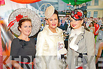 Pictured at Listowel Races, Ladies Day on Friday from left: Maria Stack (Listowel), Faith Almond (Carlow), Sarah Cass (Kilkenny).