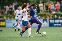 Allston, MA - Sunday July 31, 2016: Brooke Elby, Jamia Fields during a regular season National Women's Soccer League (NWSL) match between the Boston Breakers and the Orlando Pride at Jordan Field.