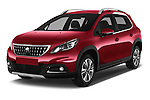 2016 Peugeot 2008 Allure 5 Door SUV Angular Front stock photos of front three quarter view