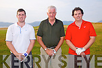 Competing for the Captains Prize in Dooks Golf Links on Sunday last were l-r; Neilus Lunch, Pat Nagle & Jason McKenna.