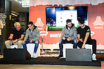 Youtuber Elchurches, Real Madrid's players Lucas Vazquez and Nacho Fernandez and Youtuber Toni MC attends to the presentation of the new Adidas shoes Red Limit at Adidas Gran Via Store in Madrid. November 28, 2016. (ALTERPHOTOS/Borja B.Hojas)