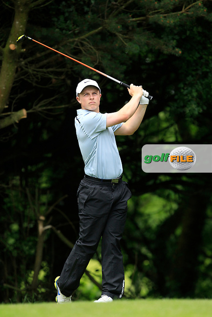 Conor Purcell (Portmarnock) on the 2nd tee during Round 3 of the Irish Boys Amateur Open Championship at Tuam Golf Club on Thursday 25th June 2015.<br /> Picture:  Thos Caffrey / www.golffile.ie