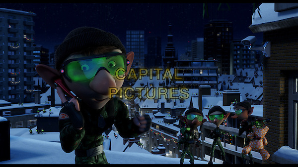 SCENE - A Field Elf in action .in Arthur Christmas.*Filmstill - Editorial Use Only*.CAP/FB.Supplied by Capital Pictures.