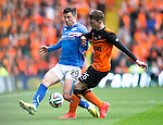 St Johnstone v Dundee United....17.05.14   William Hill Scottish Cup Final<br /> Michael O'Halloron is tackled by Andrew Robertson<br /> Picture by Graeme Hart.<br /> Copyright Perthshire Picture Agency<br /> Tel: 01738 623350  Mobile: 07990 594431