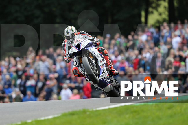 Peter Hickman (60) of the BSB Smiths Racing (BMW) race team during Race One at the Bennetts British Superbike Championship Round BSB Round 8 (Sunday) at Cadwell Park Circuit, Louth, England on 19 August 2018. Photo by David Horn.