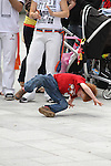 Victor Terlier tries his hand at the Capoeira at the Samba Festival on West Street..(Photo credit should read Jenny Matthews www.newsfile.ie)....This Picture has been sent you under the conditions enclosed by:.Newsfile Ltd..The Studio,.Millmount Abbey,.Drogheda,.Co Meath..Ireland..Tel: +353(0)41-9871240.Fax: +353(0)41-9871260.GSM: +353(0)86-2500958.email: pictures@newsfile.ie.www.newsfile.ie.