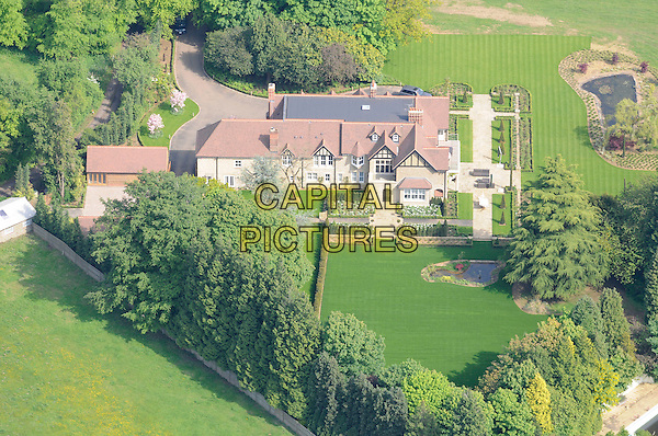 ATMOSPHERE .Aerial view of Cheryl & Ashley Cole's mansion, Surrey, England..May 2009.gv g.v. general view tweedy house home property trees land grass  .CAP/FIN.©Steve Finn/Capital Pictures.
