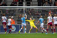 17th November 2019; Academy Stadium, Manchester, Lancashire, England; The FA Womens Super League, Manchester City Women versus West Ham United Women; An 11th minute goal for Ellen White of Manchester City Women puts them ahead 1-0 - Editorial Use