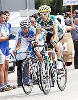 Javier Aramendia (r) and Adrian Palomares during the stage of La Vuelta 2012 between Ponteareas and Sanxenxo.August 28,2012. (ALTERPHOTOS/Acero) /NortePhoto.com<br /> <br /> **CREDITO*OBLIGATORIO** <br /> *No*Venta*A*Terceros*<br /> *No*Sale*So*third*<br /> *** No*Se*Permite*Hacer*Archivo**<br /> *No*Sale*So*third*
