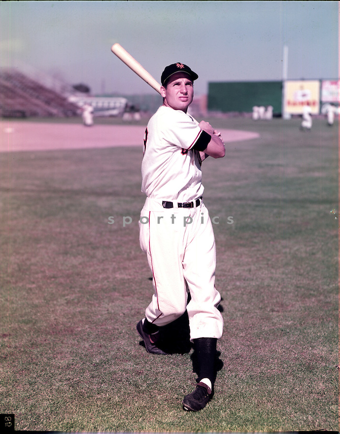 New York Giants Bobby Thomson (23) portrait from his 1952 season with the New York Giants.  Bobby Thomson played for 15 years with 5 different teams and was a 3-time All-Star.