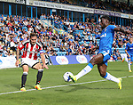 Sheffield United's Billy Sharp fires in a cross during the League One match at the Priestfield Stadium, Gillingham. Picture date: September 4th, 2016. Pic David Klein/Sportimage