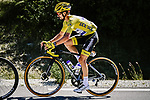 Yellow Jersey Julian Alaphilippe (FRA) Deceuninck-Quick Step in action during Stage 4 of Tour de France 2020, running 160.5km from Sisteron to Orcieres-Merlette, France. 1st September 2020.<br /> Picture: ASO/Pauline Ballet | Cyclefile<br /> All photos usage must carry mandatory copyright credit (© Cyclefile | ASO/Pauline Ballet)