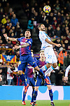 Celso Borges Mora of RC Deportivo La Coruna (R) in action against Paulinho Maciel of FC Barcelona (L) during the La Liga 2017-18 match between FC Barcelona and Deportivo La Coruna at Camp Nou Stadium on 17 December 2017 in Barcelona, Spain. Photo by Vicens Gimenez / Power Sport Images
