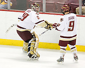 Joe Pearce (BC - 29), Nathan Gerbe (BC - 9) - The Boston College Eagles defeated the visiting Northeastern University Huskies 7-1 on Friday, March 9, 2007, to win their Hockey East quarterfinals matchup in two games at Conte Forum in Chestnut Hill, Massachusetts.