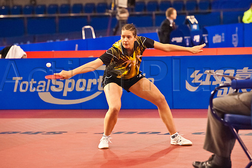 29.01.2011 English Open ITTF Pro Tour Table Tennis from the EIS in Sheffield. Irene Ivancan of Germany