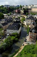 Blick von Corniche auf Grund und Alzette, Stadt Luxemburg, Luxemburg