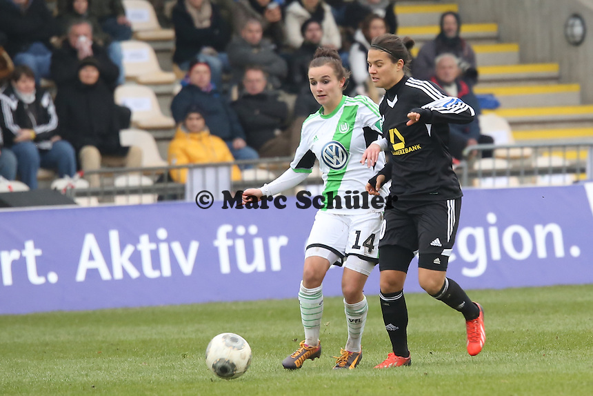Dzsenifer Marozsan (FFC) gegen Lina Magull (Wolfsburg) - 1. FFC Frankfurt vs. VfL Wolfsburg, DFB-Pokal