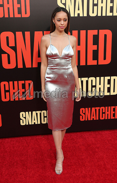 "10 May 2017 - Westwood, California - Amber Stevens. ""Snatched"" World Premiere held at the Regency Village Theatre. Photo Credit: AdMedia"
