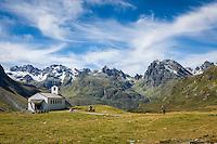 Austria, Vorarlberg, Montafon, Silvretta Bielerhoehe: Barbara chapel at Bielerhoehe | Oesterreich, Vorarlberg, Montafon, Silvretta Bielerhoehe: Barbarakapelle auf der Bielerhoehe