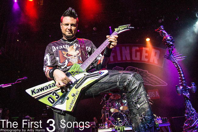 Jason Hook of Five Finger Death Punch performs during the 2016 ShipRocked Cruise. ShipRocked set sail January 18-22, 2016, from Miami to Costa Maya, Mexico on the Norwegian Pearl.