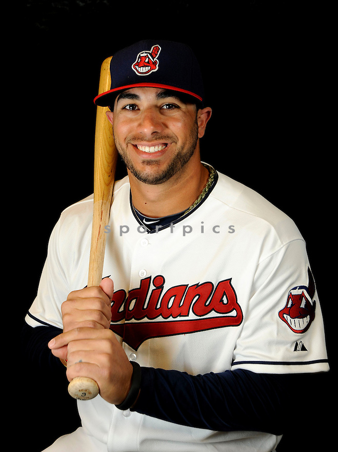 Cleveland Indians Mike Aviles (4) at media photo day on February 19, 2013 during spring training in Goodyear, AZ.