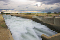 Water being diverted from the Feather River to an ag area near Oriville, CA