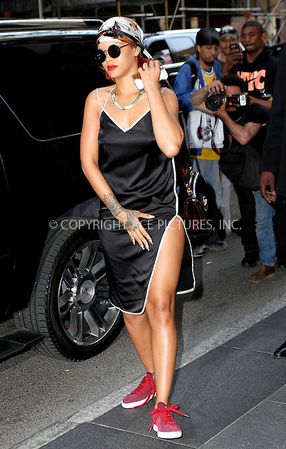WWW.ACEPIXS.COM<br /> <br /> May 4 2015, New York City<br /> <br /> Rihanna on the night of the Met Gala on May 4 2015 in New York City<br /> <br /> By Line: Nancy Rivera/ACE Pictures<br /> <br /> <br /> ACE Pictures, Inc.<br /> tel: 646 769 0430<br /> Email: info@acepixs.com<br /> www.acepixs.com