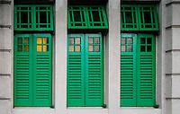 Art in architecture - green windows