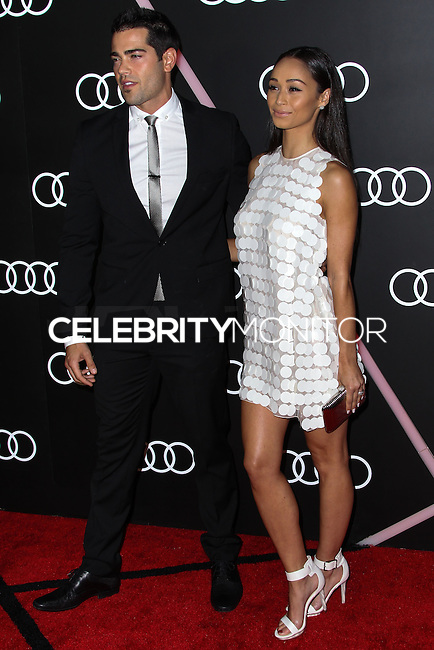LOS ANGELES, CA - JANUARY 09: Jesse Metcalfe, Cara Santana at the Audi Golden Globe Awards 2014 Cocktail Party held at Cecconi's Restaurant on January 9, 2014 in Los Angeles, California. (Photo by Xavier Collin/Celebrity Monitor)