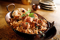 Char Griiled Chicken Byriani Indian cuisine