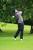 Lee McMillan (Craddockstown) on the 3rd tee during round 1 of The Mullingar Scratch Cup in Mullingar Golf Club on Sunday 3rd August 2014.<br /> Picture:  Thos Caffrey / www.golffile.ie