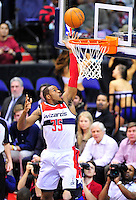Trevor Booker of the Wizards gets a bucket. Miami defeated Washington 106-89 at the Verizon Center in Washington, D.C. on Friday, February 10, 2012. Alan P. Santos/DC Sports Box
