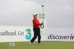 Des Smyth teeing off on the 16th hole during day two of the 3 Irish Open..Pic Fran Caffrey/golffile.ie