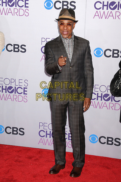 Giancarlo Esposito.People's Choice Awards 2013 - Arrivals held at Nokia Theatre L.A. Live, Los Angeles, California, USA..January 9th, 2013.full length grey gray hat tinted glasses houndstooth dogtooth print shirt suit hand arm finger pointing  .CAP/ADM/BP.©Byron Purvis/AdMedia/Capital Pictures.