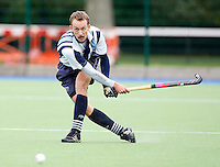 Dan Fox in action for Hampstead during the England Hockey League Mens Premier Division game between Hampstead & Westminster against Canterbury at The Paddington Recreation Ground, Maida Vale on Sat Sept 25, 2010