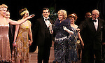 Blythe Danner Returns to Broadway: Blythe Danner with Ensemble Cast.during the Curtain Call for 'Nice Work If You Can Get It'  at the Imperial Theatre in New York City on December 19, 2012