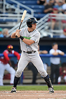 Jamestown Jammers outfielder Michael Suchy (35) at bat during a game against the Batavia Muckdogs on July 7, 2014 at Dwyer Stadium in Batavia, New York.  Batavia defeated Jamestown 9-2.  (Mike Janes/Four Seam Images)
