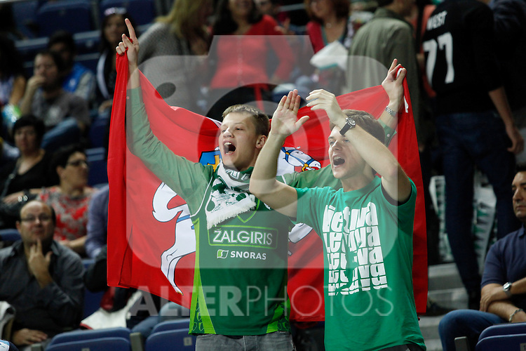 Zalgiris Kaunas´s supporters during Euroleague basketball match in Madrid, Spain. October 17, 2014. (ALTERPHOTOS/Victor Blanco)