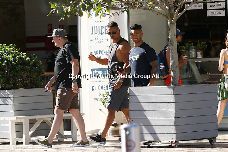 18 JANUARY 2016 SYDNEY AUSTRALIA<br /> <br /> EXCLUSIVE <br /> <br /> Jarryd Hayne pictured leaving The Pavilion Hotel Coogee with his mates.