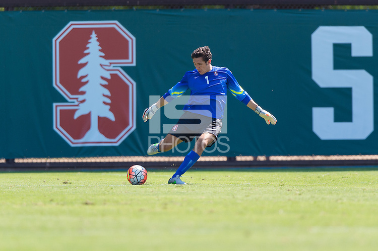 Stanford, CA - September 20, 2015: Andrew Epstein during the Stanford vs Davidson men's soccer match in Stanford, California.  The Cardinal defeated the Wildcats 1-0 in overtime.