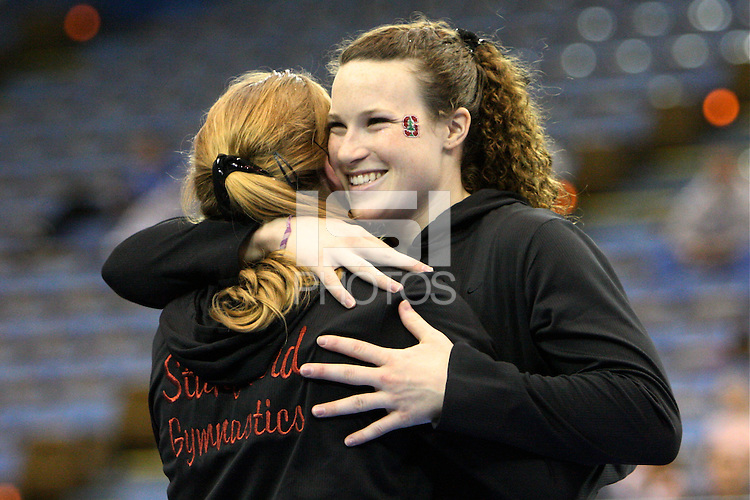 27 January 2008: Heather Purnell during Stanford's 195.050-195.025 loss to UCLA at Pauley Pavilion in Stanford, CA.