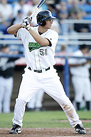 June 23, 2009:  Kyle Jensen of the Jamestown Jammers at bat during a game at Russell Diethrick Park in Jamestown, NY.  The Jammers are the NY-Penn League Short-Season Class-A affiliate of the Florida Marlins.  Photo by:  Mike Janes/Four Seam Images